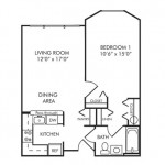 One Bedroom 702 sq ft